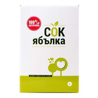 Земела - Български натурален сок от  Ябълка 3л
