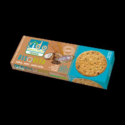 Зидо - Бисквити с лимец, кокос и какаови зърна 105 гр.