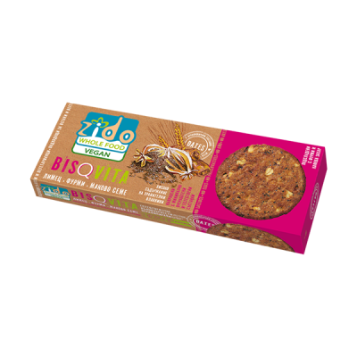 Зидо - Бисквити с лимец, фурми и маково семе 115 гр.